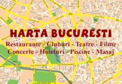 Harta Bucuresti - Hoteluri Bucuresti